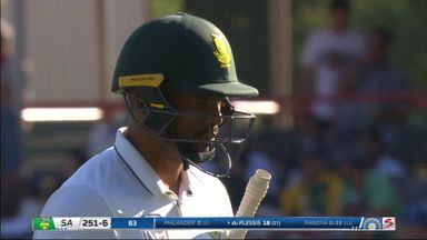Philander's dozy run out!