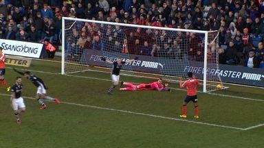 Luton's goalie gaffe