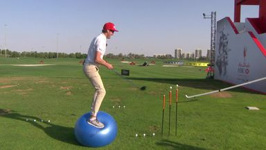 Trick shots on the range