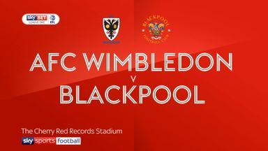AFC Wimbledon 2-0 Blackpool