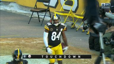 Incredible Brown catch for TD!