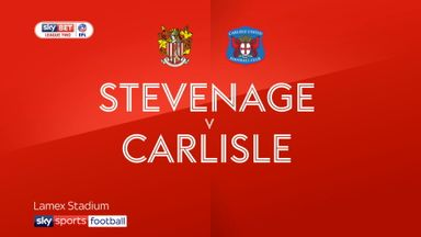 Stevenage 0-0 Carlisle
