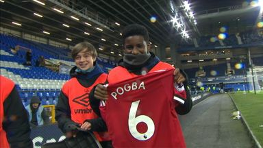 Pogba gives shirt to Everton ball boy
