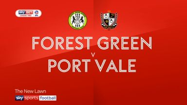 Forest Green 1-0 Port Vale