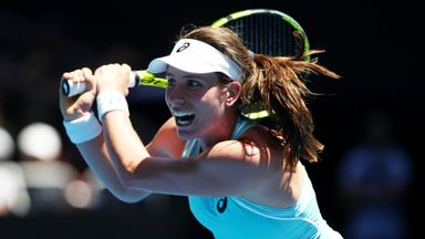Konta through to second round
