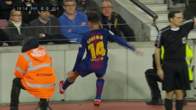 Coutinho takes tumble on league debut