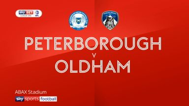 Peterborough 3-0 Oldham
