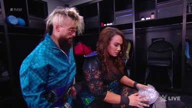 Enzo Amore checks on Nia Jax