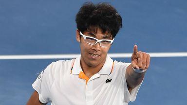 Chung defeats Djokovic