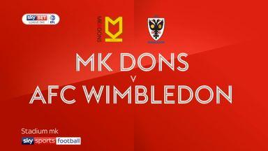 MK Dons 0-0 AFC Wimbledon