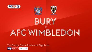 Bury 2-1 AFC Wimbledon