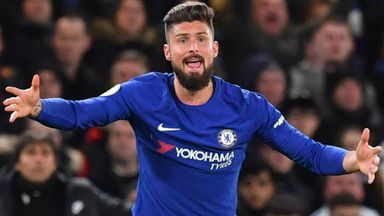 Conte backs Giroud to challenge Morata
