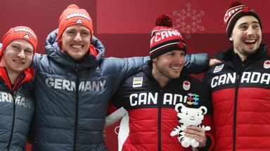 Canada and Germany share bobsleigh gold