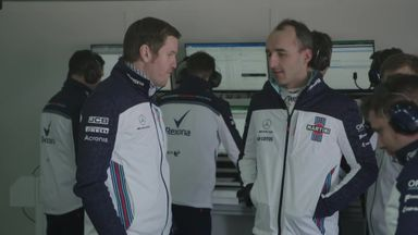 Kubica tests new Williams FW41