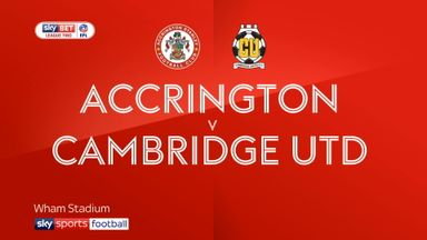 Accrington 1-0 Cambridge