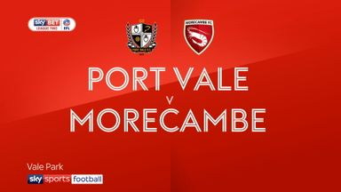 Port Vale 0-0 Morecambe
