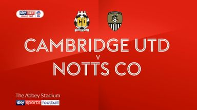Cambridge Utd 1-0 Notts County