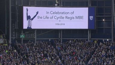 The Hawthorns remembers Cyrille Regis