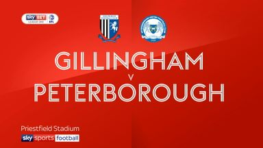 Gillingham 1-1 Peterborough