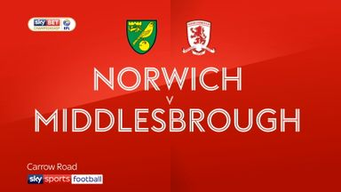 Norwich 1-0 Middlesbrough