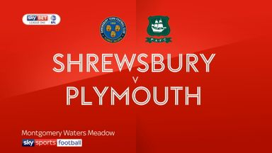 Shrewsbury 1-2 Plymouth