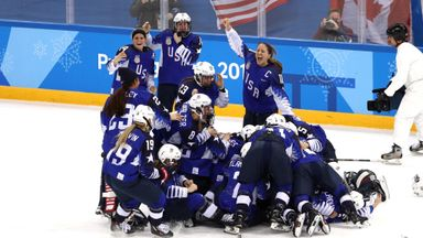 USA end 20 year wait for ice hockey gold