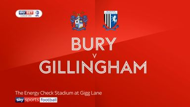 Bury 2-1 Gillingham