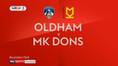 Oldham 1-0 MK Dons