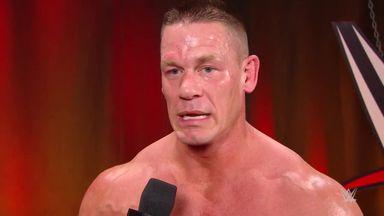 Cena focussing on Elimination Match