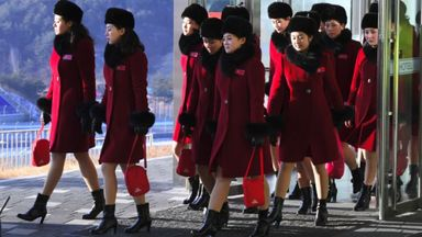 Introducing the North Korea cheer squad!