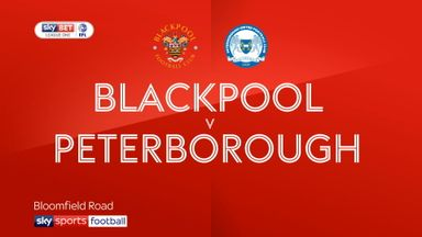 Blackpool 1-1 Peterborough