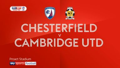 Chesterfield 2-3 Cambridge
