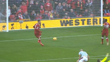 Firmino's no-look finish!