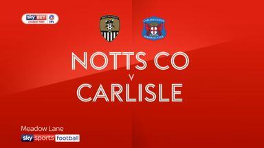 Notts County 2-1 Carlisle United