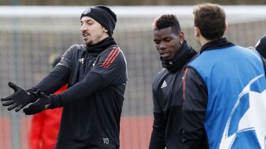Pogba & Zlatan return to Man Utd training