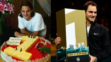 Federer's 14 years at No.1