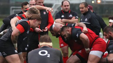 England scrum against Georgia