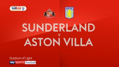 Sunderland 0-3 Aston Villa