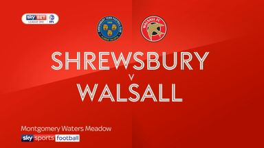 Shrewsbury 2-0 Wallsall