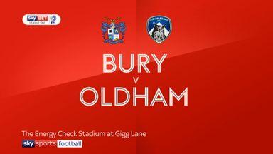 Bury 2-2 Oldham