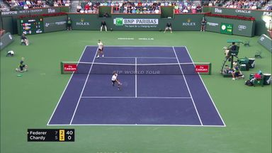 Brilliant point between Federer & Chardy