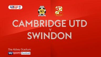 Cambridge 1-3 Swindon