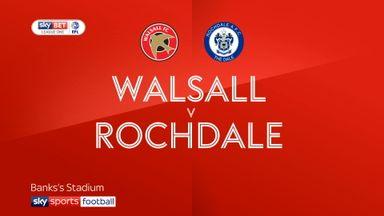 Walsall 0-3 Rochdale