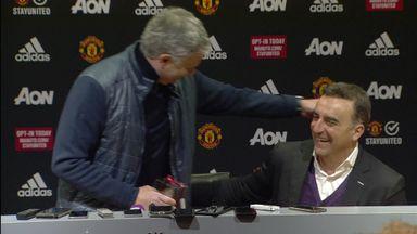 Mourinho hugs Carvalhal!