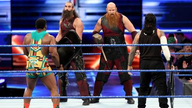 Big E & Jimmy Uso take on Bludgeon Brothers