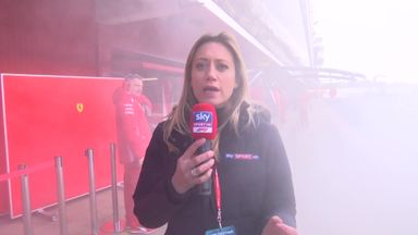 Ferrari smoke out Sky reporter