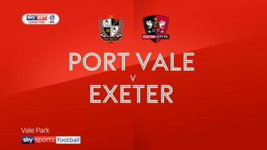Port Vale 0-1 Exeter