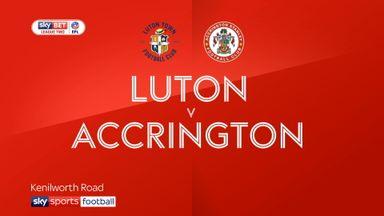 Luton 1-2 Accrington