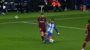 Malaga's malicious red card