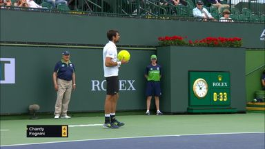 Giant tennis ball flies onto court